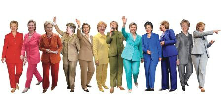 hillary clinton pantsuit rainbow