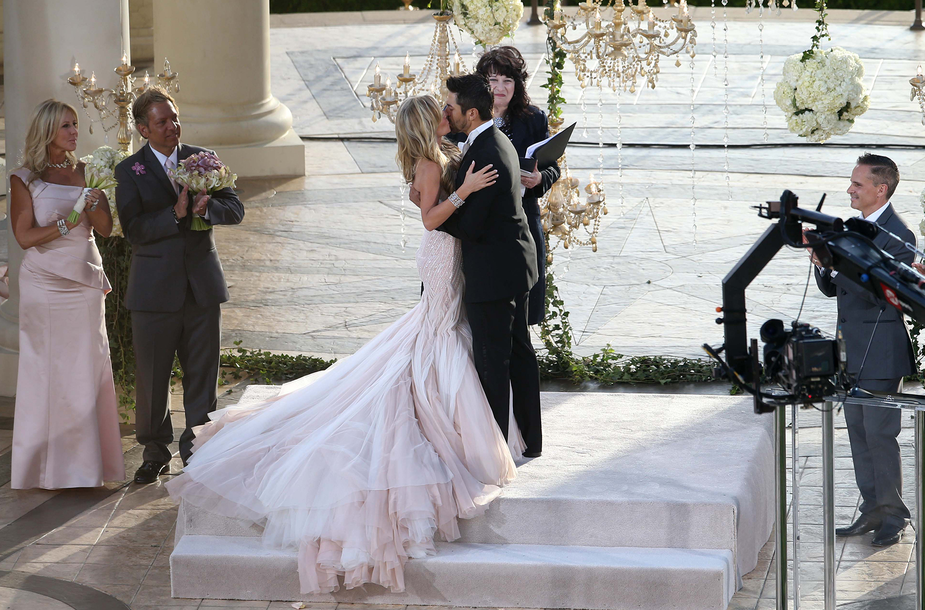 Tamra Barney and Eddie Judge marry at a sunset ceremony in Laguna Beach, California