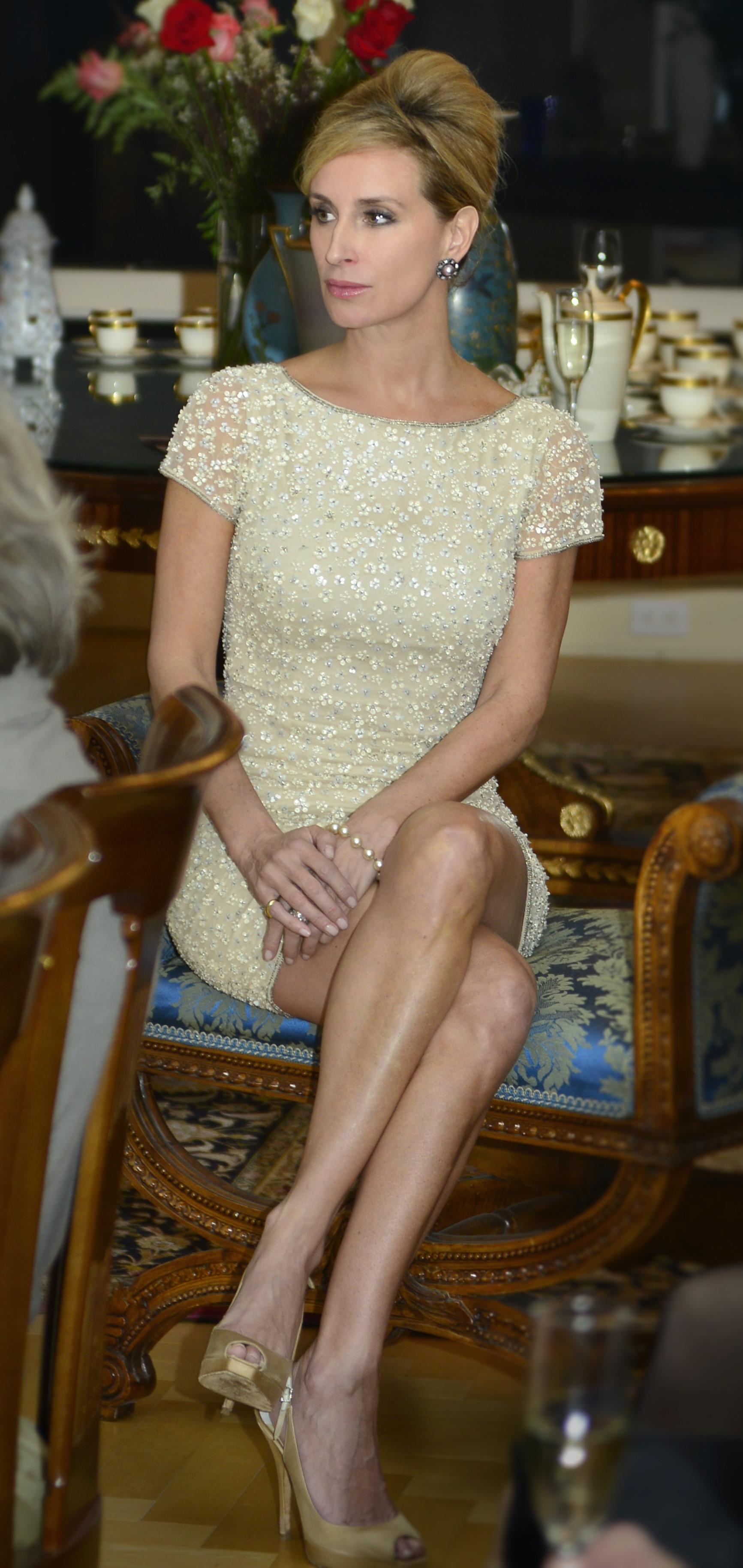 SM Francine Book Signing 14B copy sitting beige dress
