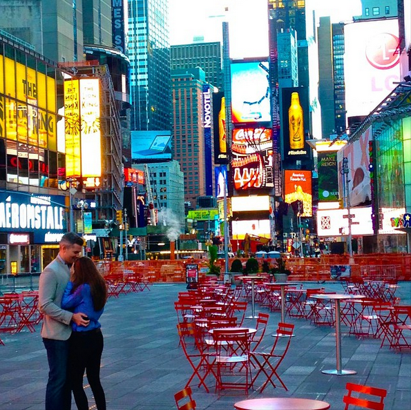 ryan serhant engaged times square