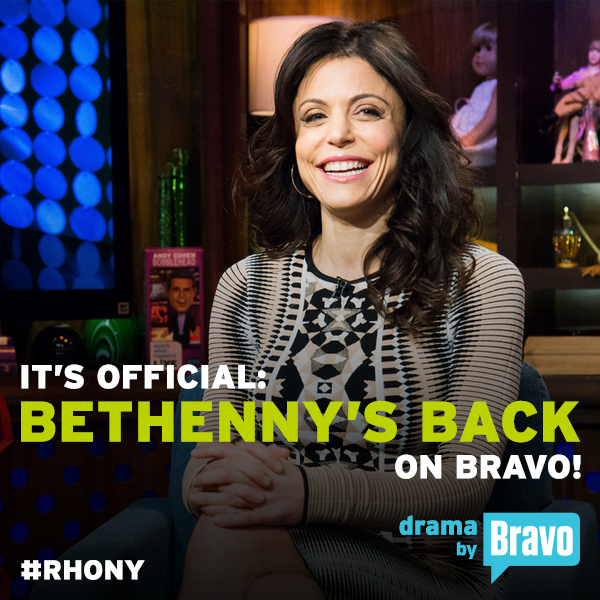 bethenny return rhony