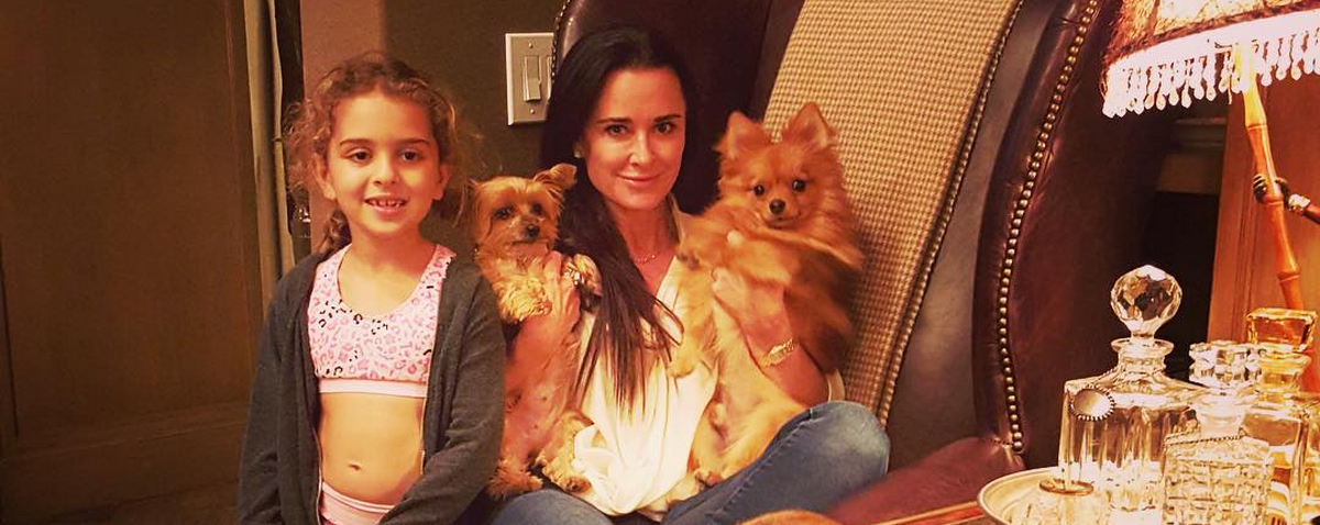 See How Kyle Richards Celebrated National Dog Day