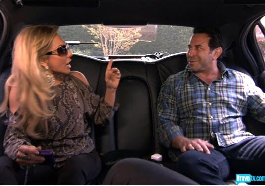 adrianne maloof and dr paul nassif argue while riding in a limo