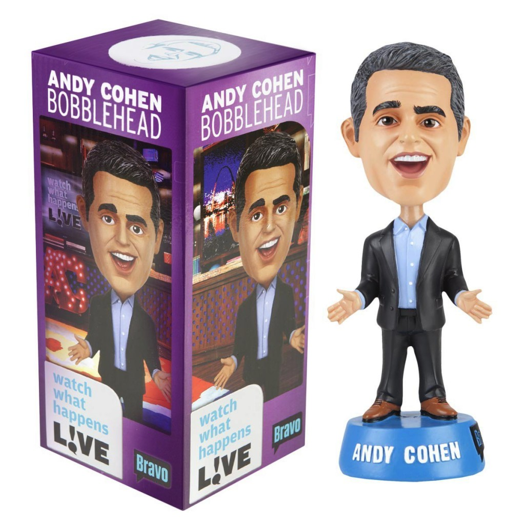 This is a bobble head figure that's been modeled after Bravo TV's, Andy Cohen