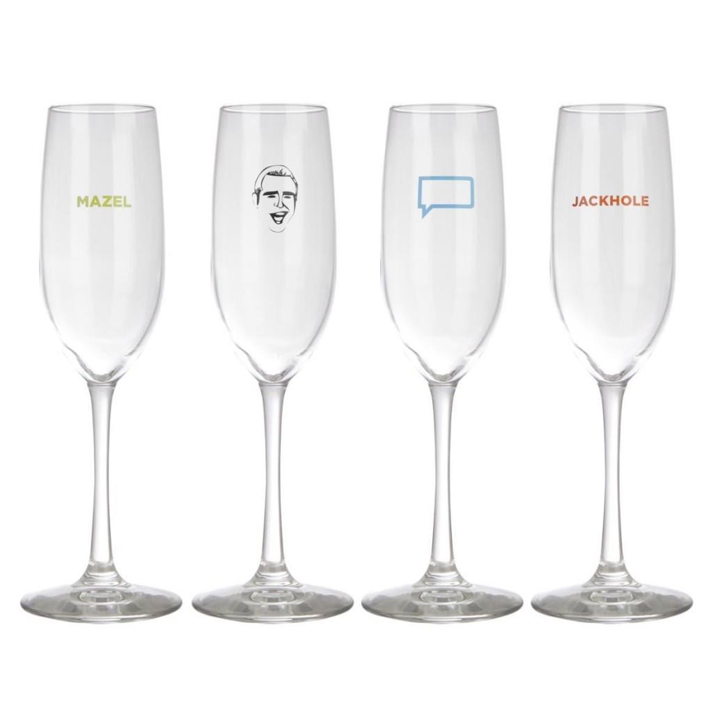bravo tv mazel champagne glass set of 4