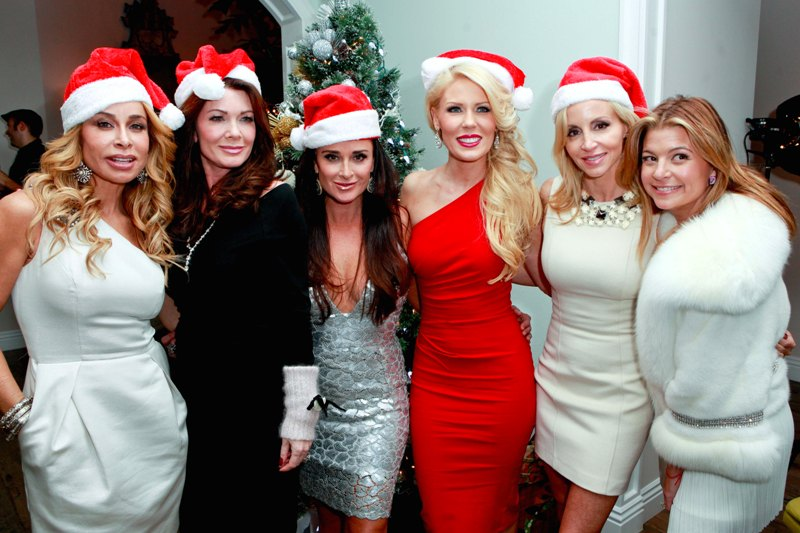 Kyle Richards throws a Housewives Holiday Party in Beverly Hills, CA