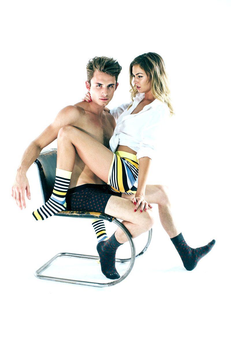 james kennedy with lala kent in a modeling shoot