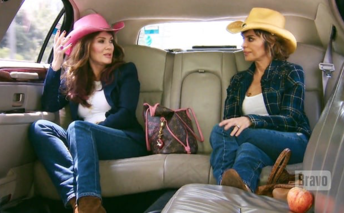 lisa vanderpump and lisa rinna in a limo together