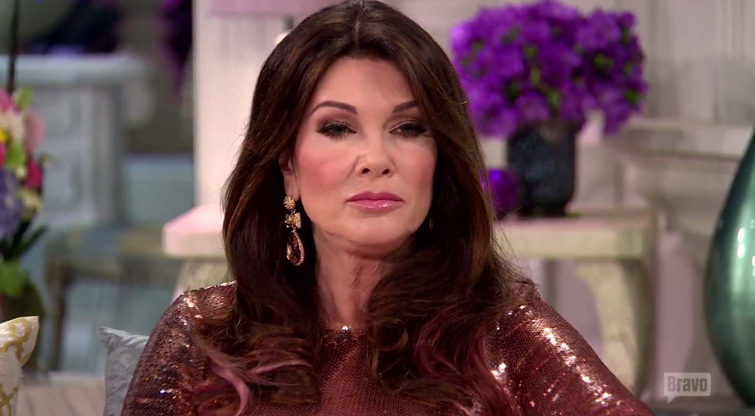 lisa vanderpump at the rhobh season 6 reunion show