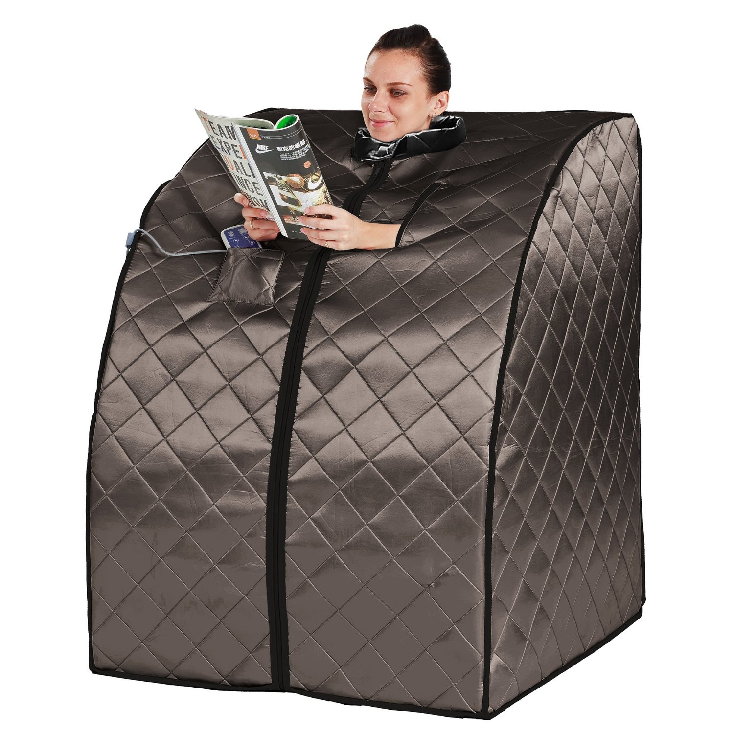 A picture of a portable, personal sauna