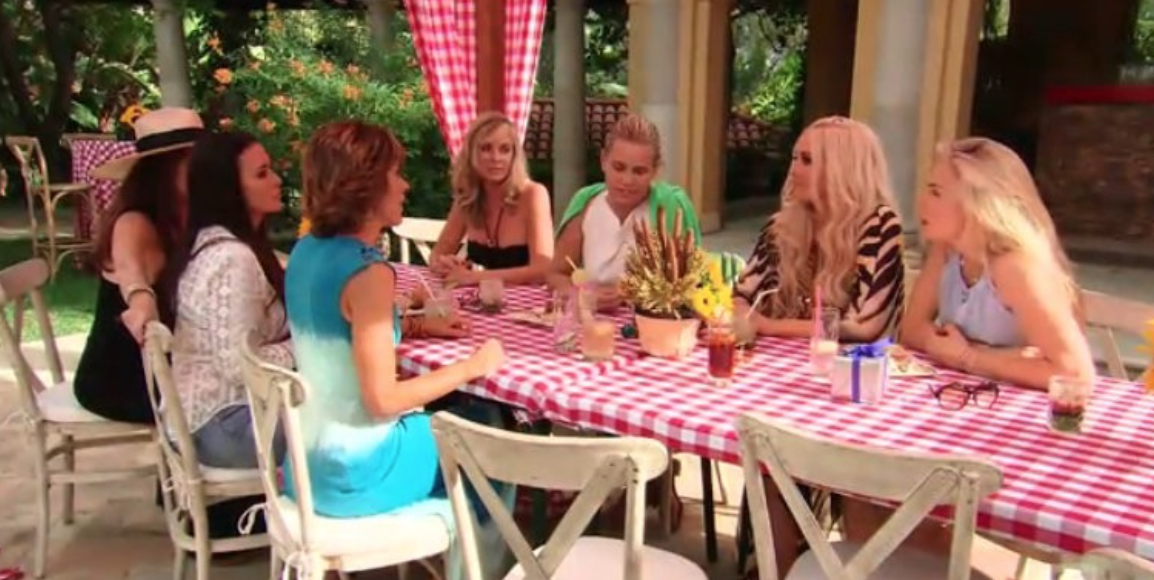 real housewives of beverly hills season 6 dinner scene