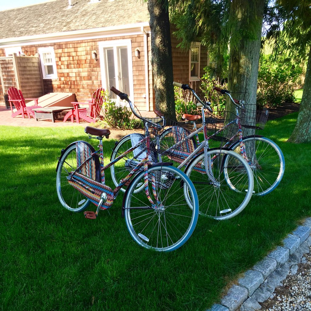 bethenny frankel bicycles in the hamptons