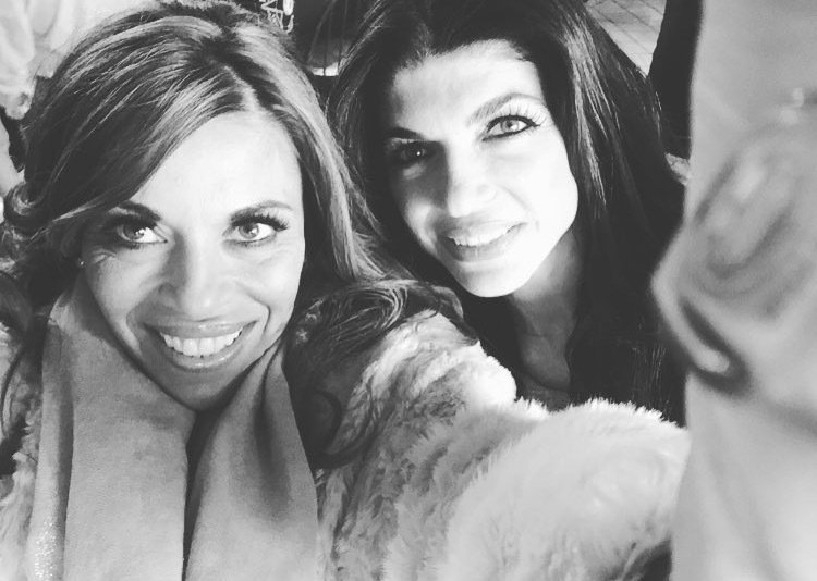 Dolores Catania and Teresa Giudice posing for a selfie.