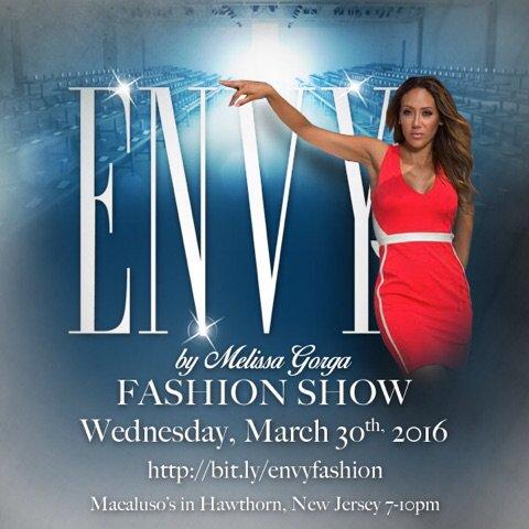 melissa gorga envy fashion show