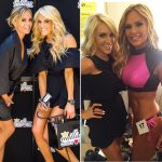 Tamra Judge posing with friends at a fitness competition