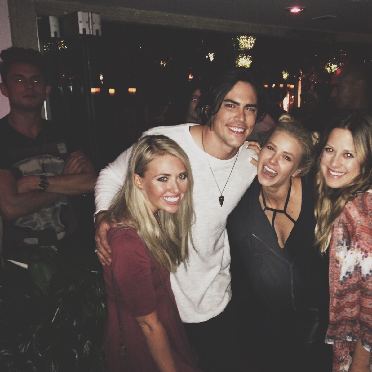 tom sandoval with new hair and ariana