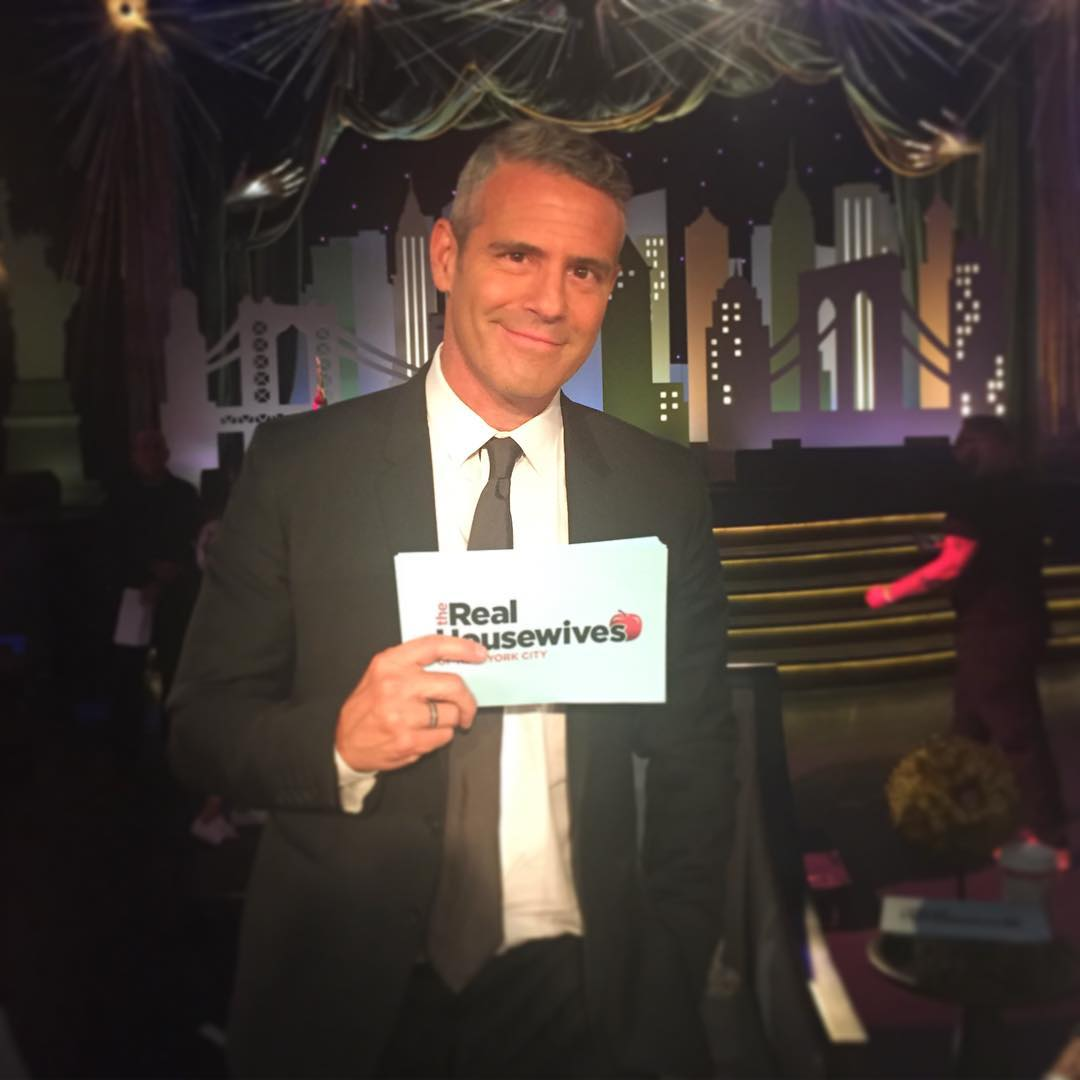 andy cohen at the real housewives of new york city reunion show