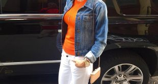 Bethenny Frankel thinks orange is the new black.. We agree!