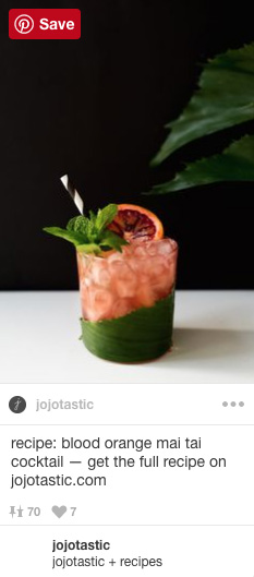 blood orange mai tai