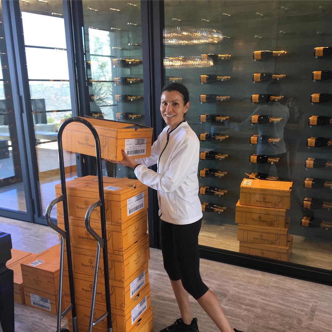 heather dubrow champagne cellar