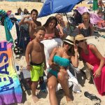 melissa gorga at the beach