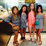 milania with her friends shopping