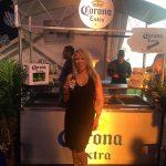 Ramona sippin' on some Corona... Hey, that rhymes!