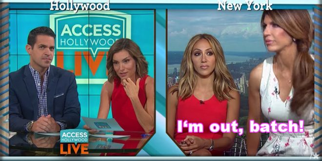 teresa giudice leaves access hollywood interview