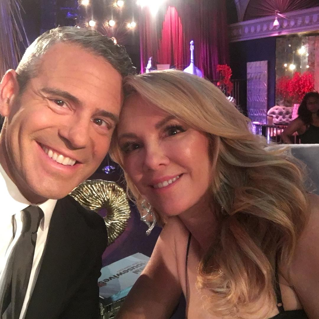 andy cohen and ramona singer at the reunion