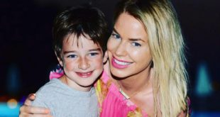 caroline stanbury with her son