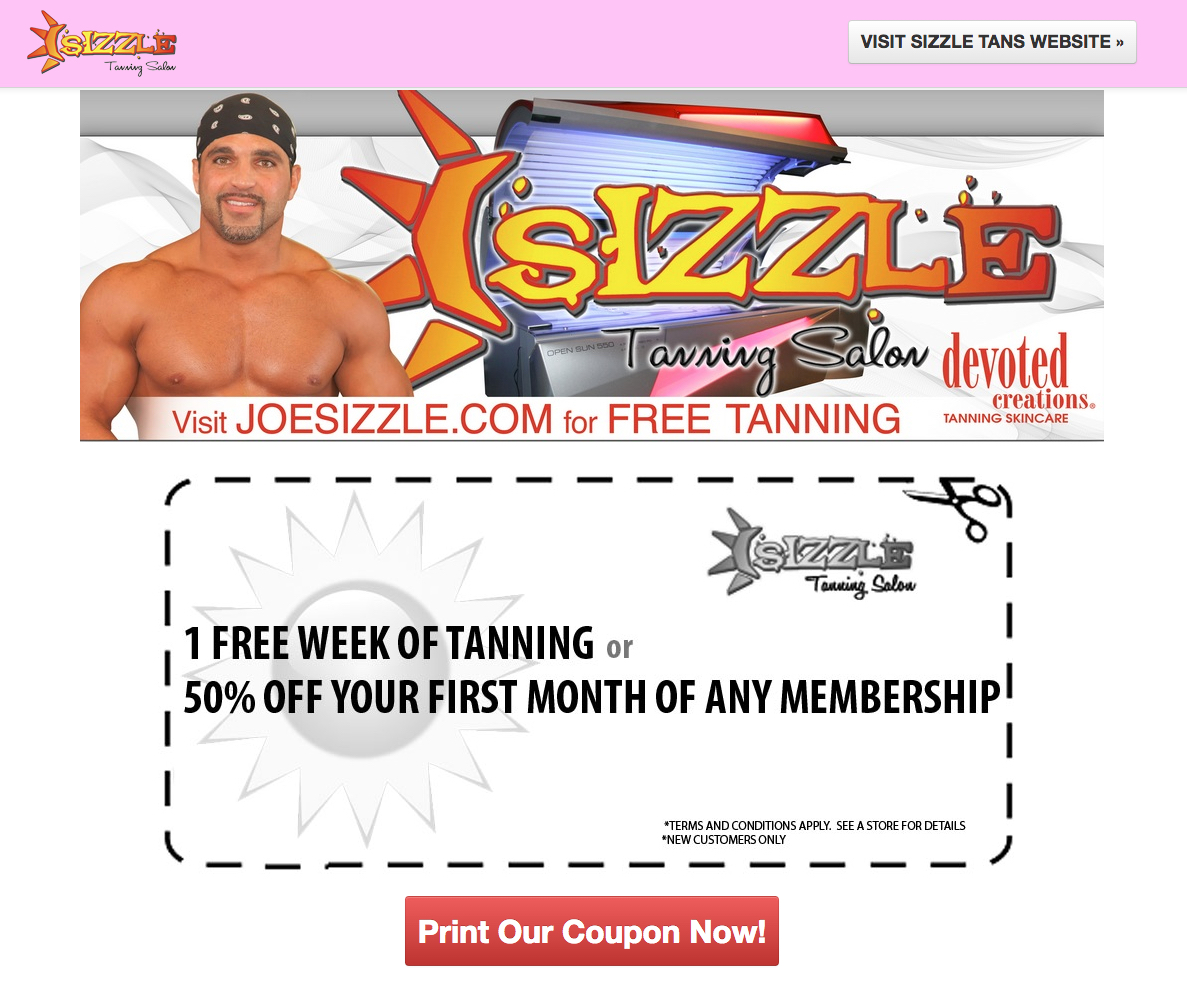 joe gorga sizzle tan website