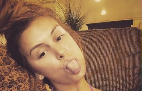 lala kent tongue out