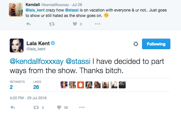 lala kent twitter fight