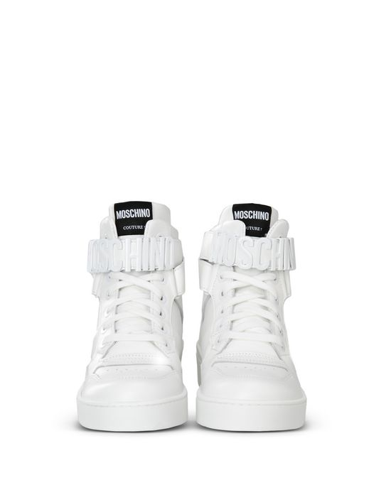 moschino white high top sneakers for women