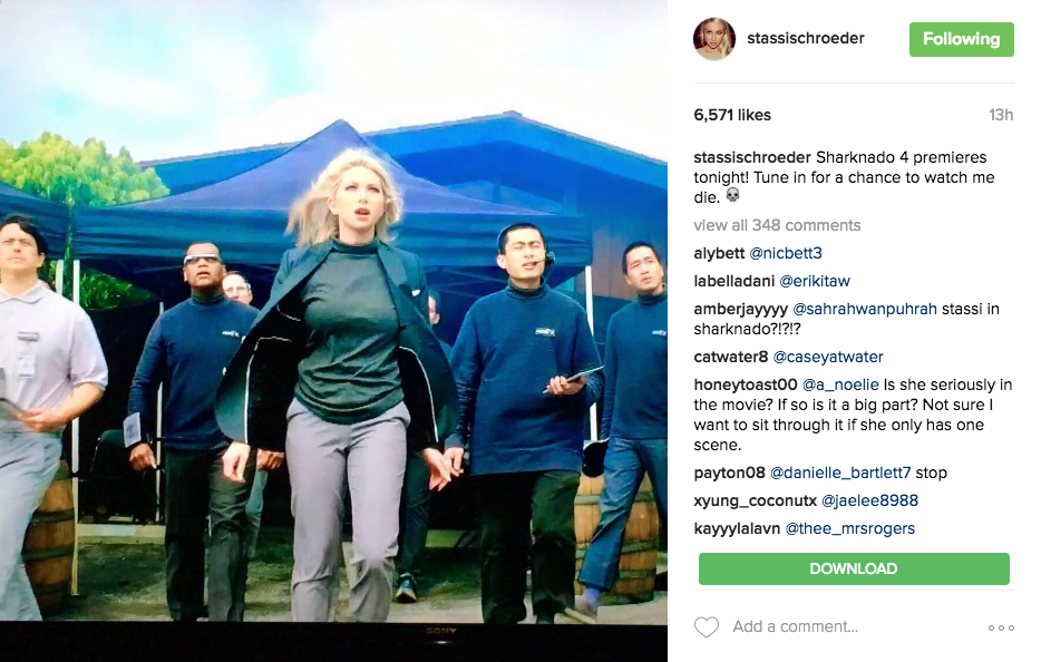 stassi schroeder on sharknado 4