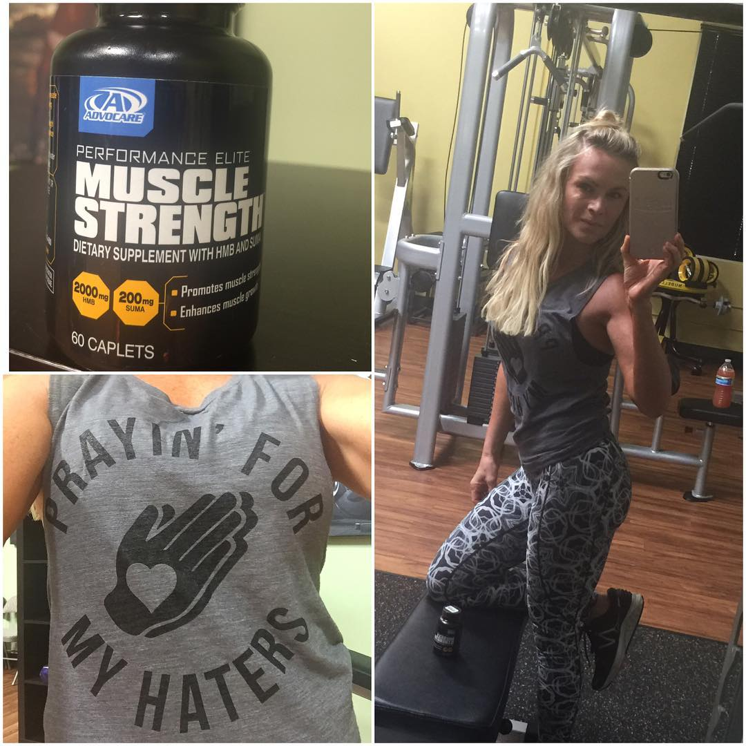 tamra-judge-gym-selfie-with-advocare